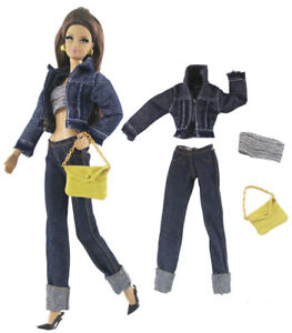 1set Fashion Vest /& Trousers Pants For 11.5in Doll Clothes Outfits For 1//6 Doll