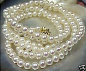 20-034-Stunning-AAA-8-9mm-real-natural-south-sea-white-pearl-necklace-14k