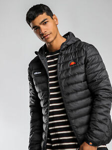 New-Ellesse-Mens-Lombardy-Puffer-Jacket-In-Black-Jackets-Anoraks-amp-Parka-039-s