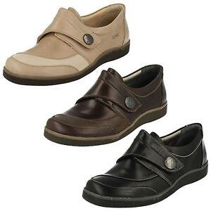 Mujer-LAURA-Cuero-Cierre-Adhesivo-Zapato-de-Suave