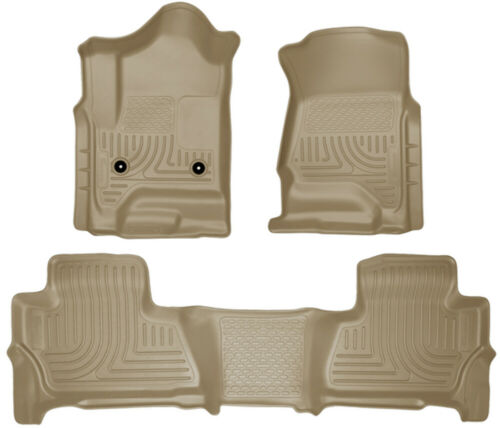 99213 Husky Liners Front /& 2nd Seat Tan Floor Liners for 15-16 Chevy Suburban