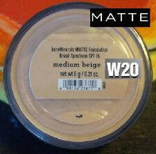 Bare Escentuals *MEDIUM BEIGE* MATTE Bare Minerals Foundation 6g W20 ~ SPF 15