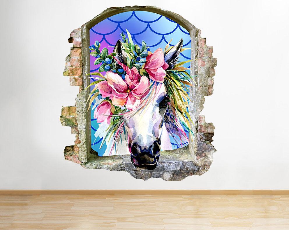 J576 Unicorn Fiori Fantasy Ragazze Ragazze Ragazze rossoto murali 3D ARTE Adesivi Vinile Stanza aeac48