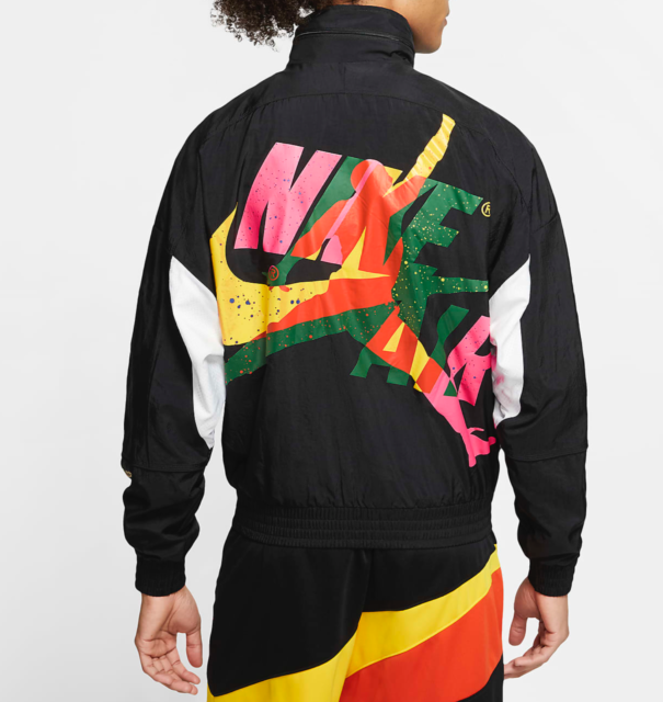 Nike Jordan Jumpman Classics Men Jacket,  CV7418-010, Black/White/Amarillo, M