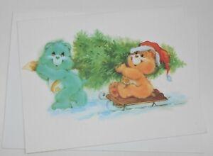 1986 Unused Care Bears Christmas Card