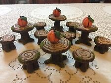 Fairy Garden Dollhouse Table & Chairs Set Approximately 1:12 Scale Handmade