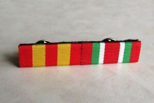 Canadian Fire Services Exemplary & Ontario Fire Long Service Medal Ribbon Bar