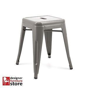 Replica-Xavier-Pauchard-Tolix-Stackable-Metal-Stool-45cm-Grey