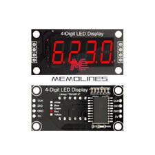036 Inch 4bit Digital Tube Led Red Display Tm1637 7 Segment Module For Arduino