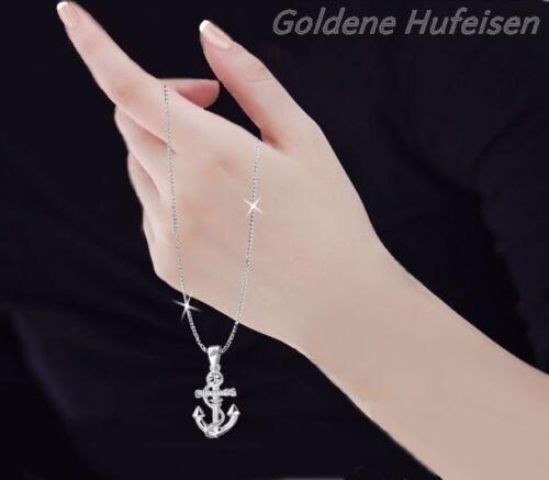 Glänzend Silber Kreuz Halskette mit Kristall Elemente Hochwertig N26