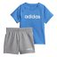 Adidas Boys Kids Infants Linear Summer Set Running Pant Tee Sporty New DV1263