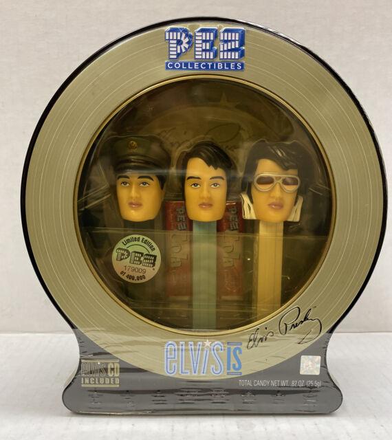 Elvis Presley Limited Edition PEZ Dispensers 3 Pack Set and Elvis CD New Sealed