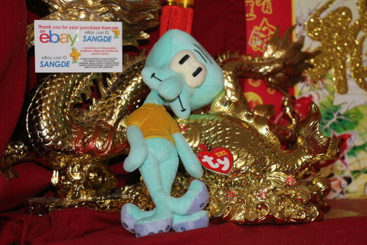TY BEANIE BABY SQUIDWARD TENTACLES.RETIRED.MWNMT.2004 RELEASE.9  .NICE GIFT