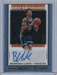 2019-20-Hoops-Great-Significance-Gold-Rookie-Autograph-Brandon-Clarke-1-10