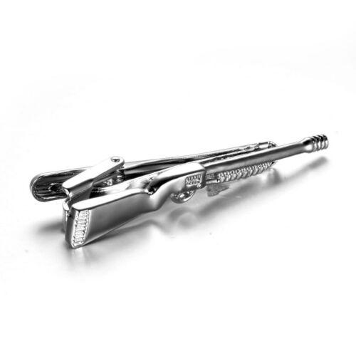 Krawattenklammer Krawattennadel Tie Clip Gewehr Muster chmuck Handwerk
