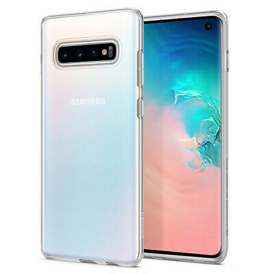 Galaxy S10, S10 Plus Spigen® [Liquid Crystal] Clear Hybrid Protective Case Cover