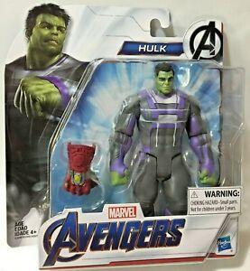 Hasbro-Marvel-AVENGERS-ENDGAME-MCU-HULK-Iron-INFINITY-STONES-GAUNTLET-6in-Figure