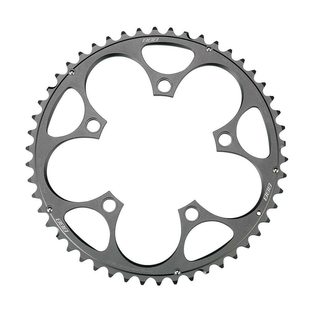 Bbb Compactgear Bicicleta de Carretera Cadena 5 Hole 110 Bcd 50 Tooth - negro