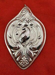 1988-Grande-Baroque-Partridge-Pear-Tree-Wallace-Sterling-Ornament-in-Box-8835