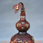 8-034-Vieille-Chine-rouge-Cuivre-Dore-prune-fleur-Bambou-Fleur-Gourdes-Vase miniature 2