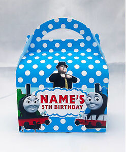 Thomas-the-Tank-Engine-Children-039-s-Personalised-Party-Boxes-Favour-1ST-CLASS-POST