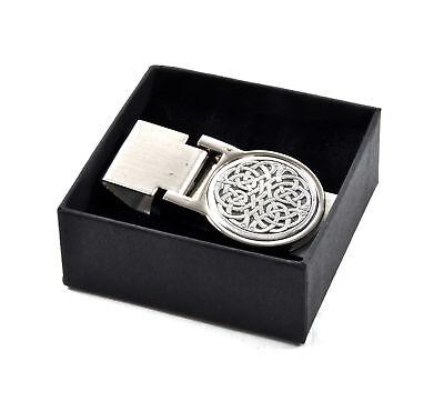 100% Wahr Keltisch Unendliche Knoten Geldklammer - Überarbeitet Design Elegantes Und Robustes Paket