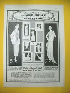 Publicite-de-Prensa-Primavera-Grandes-Tiendas-Moda-Ideal-Ad-1923