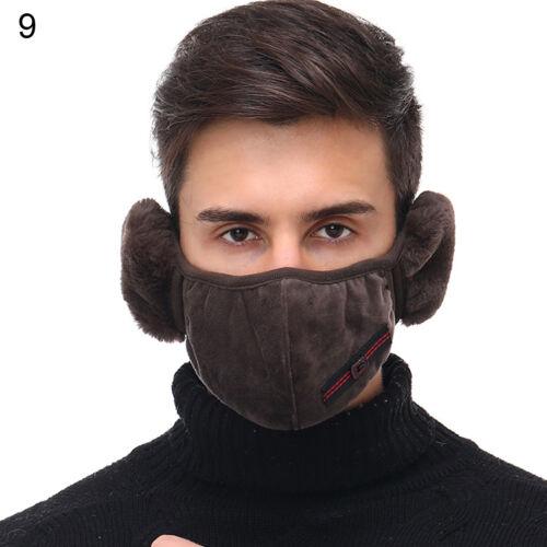 Adult Autumn Winter Face Cover Warm Keeping Earmuff Ear Half Face Warmer