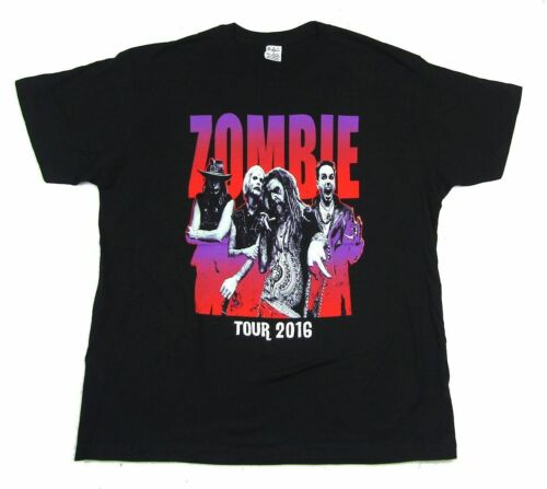 Rob Zombie Dreads Band Pic 2016 Tour Black T Shirt New Official Merch