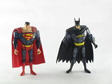 """DC Justice League Unlimited Cyber Defenders Batman & Superman 4-5"""" Action Figure"""