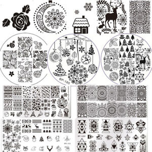 Christmas-Nail-Art-Stamping-Plates-Born-Pretty-Image-Stamp-Templates-Nails-DIY
