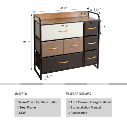 Home Garden Dressers Chests Of Drawers Chest Of Fabric Drawers Dresser Furniture Cabinet Bedroom Storage Bins Organizer Institut Pyrene Fr