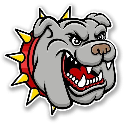 2 X Bulldog Perro Pegatina de vinilo Laptop Equipaje de Viaje #4257