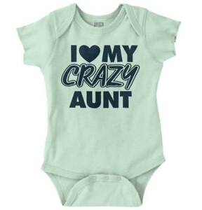 769c4837a826 Love Crazy Aunt Funny Shirt Cool Gift Idea Baby Clothes Cute Romper ...