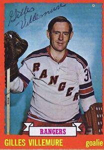 Gilles-Villemure-1973-Topps-Autograph-153-Rangers