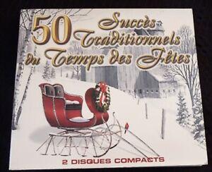 Double-Digipack-CD-50-Succes-Traditionnels-du-Temps-des-Fete-Canada-Records
