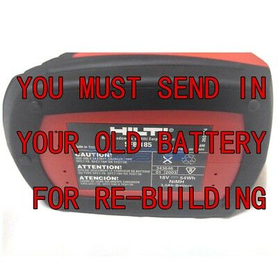 For HILTI 18V 3000mah 3.0AH Battery Recelling Refill Pack SFB185 Ni-MH TOPEND