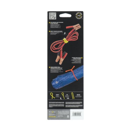 """Nite Ize Gear Tie 18/"""" Coyote 2-Pack Reusable Rubber Twisty Ties Durable Organize"""