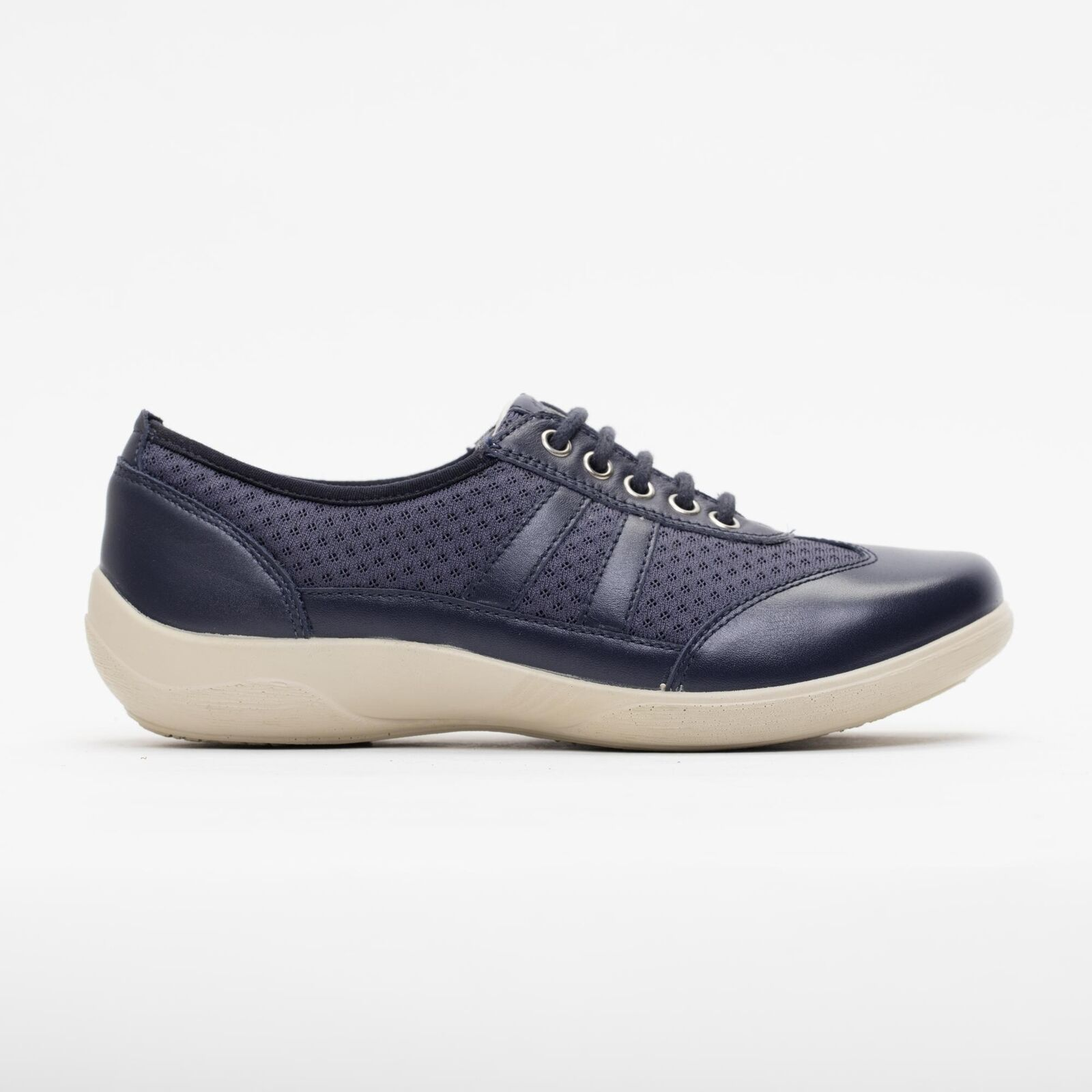 Padders JULIE Ladies Womens Leather Extra Wide Plus Casual Casual Casual Trainer shoes Navy c16db7