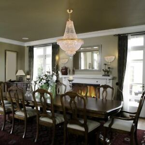 9 LIGHT FRENCH GOLD EMPIRE CRYSTAL CHANDELIER LIVING DINING ROOM