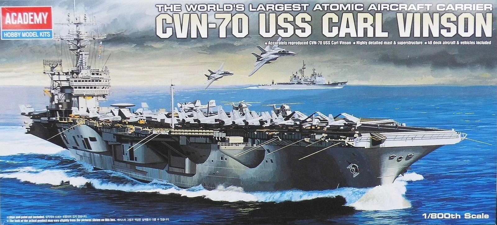 Academy 1 800 (14209)  Aircraft Carrier CVN-70 USS CARL VINSON