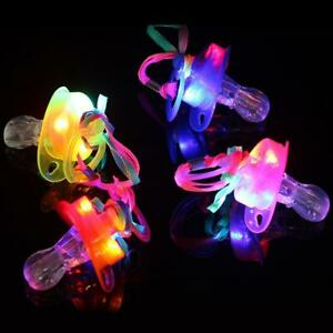 Light-Up-Pacifier-LED-Rave-Party-Supplise-Glowing-Whistle-Flashing-Lanyard-Toy