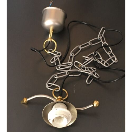 Kettenaufhängung Lampenpendel Leuchtenpendel Lampenaufhängung E27 Silber Messing