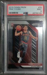 Trae-Young-2018-19-Panini-Prizm-RC-Rookie-78-PSA-9-Mint
