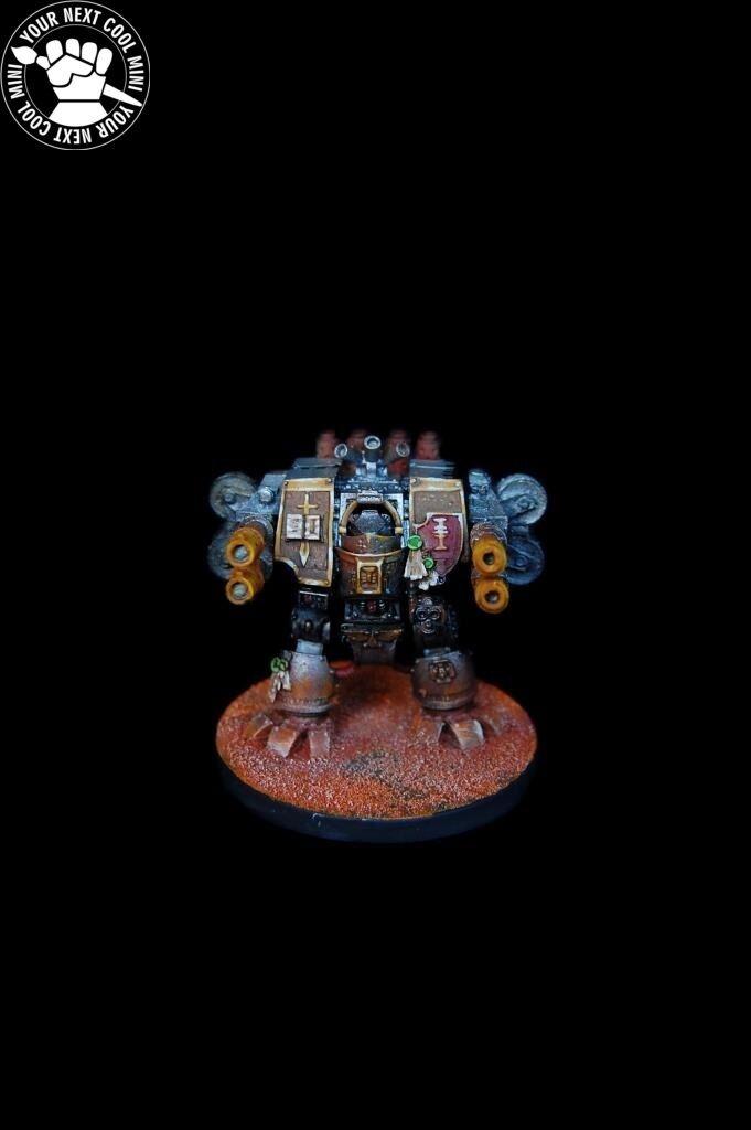 Warhammer 40K marines espaciales gris Caballeros Dreadnought 1 Pro Pintado En Miniatura