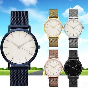 2016 Luxury Women Men Stainless Steel Watch Analog Quartz Bracelet Wrist Watches