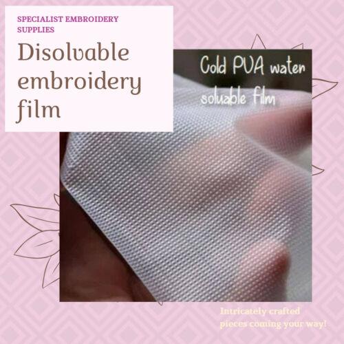 1 m² Dissout Dans l/'Eau Froide Soluble dans l/'eau broderie Film