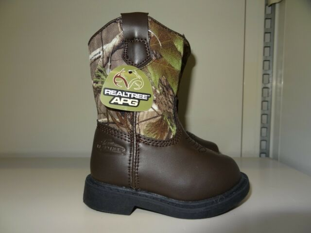 76978992100f2 TODDLER BOYS / GIRLS SIZE 5M CAMOUFLAGE WESTERN BOOTS BY TEAM REALTREE *NEW*