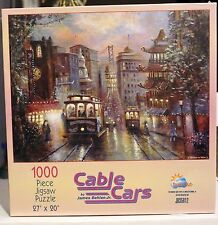 "Cable Cars - 1000 Pc - 27"" X 20""  New in Box -- Artwork by James Behlen Jr."
