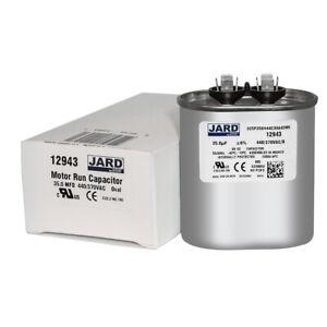 97F9611 Jard 12718-35 uF MFD x 370 VAC Genteq Replacement Capacitor Round # C335R